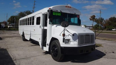 2008 Freightliner Thomas High Top C7 Caterpillar Allison Automatic Air Brakes Front Wheel Chair Lift Clean Used Florida School Buses @ BGA School Buses Hudson FL