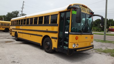 Stock #2491 2004 Thomas HDX MBE906 250HP Allison MD3060 Automatic Transmission Air Brakes 78 Passenger Rear Engine Clean used school bus for sale near me
