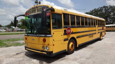 Stock #2498 2004 Thomas HDX RE Mercedes MBE906 diesel MD3060 Allison Automatic Air Brakes 78 passenger high top clean used school bus for sale near me florida school buses