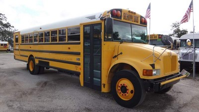 Stock #2569 2004 International IC CE200 T444E Diesel Automatic Air Brakes 11 rows Wheel Chair Clean Used School Bus For Sale Near Me Florida Used Buses BGA School Buses Inc