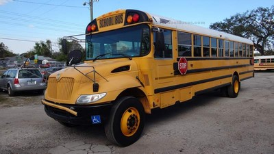Stock #2577 2007 IC CE300 Allison 2500 Automatic Air Brakes 12 rows Wheel Chair High Top Clean Used School Bus For Sale Near Me Florida Used Buses BGA School Buses Inc