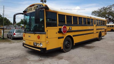 Stock#2618 2005 Thomas HDX C7 Caterpillar Diesel MD3060 Allison Automatic Air Brakes 13 rows Clean Used School Bus For Sale Near Me Florida Used Buses BGA School Buses Inc