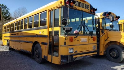 Stock #2622 1999 Thomas MVP MT643 Allison Automatic Air Brakes 13 rows Full Basement Clean Used School Bus For Sale Near Me @ BGA School Buses, Inc. Hudson, FL